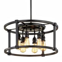 Fifth and Main Lighting 6-Light Aged Bronze Dinette ...