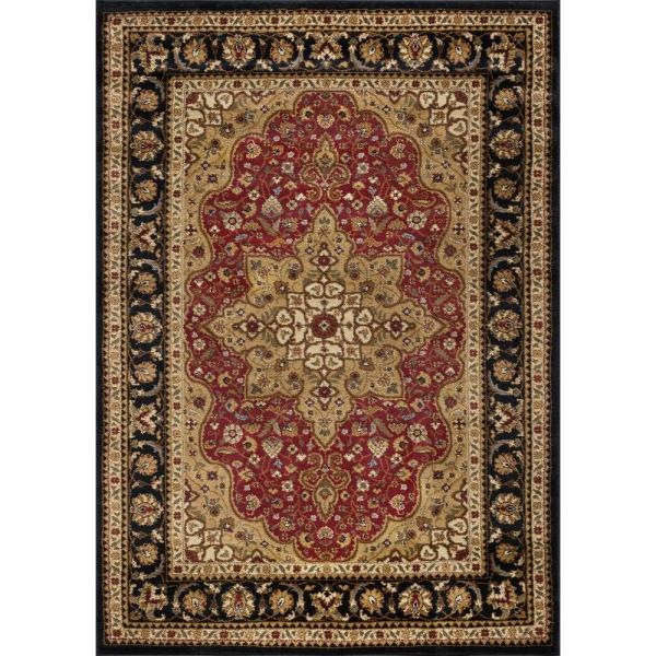 Tayse Rugs Elegance Red 9 Ft. X 13 Traditional Area
