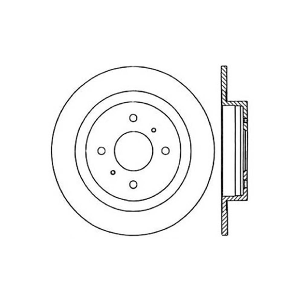 Centric Disc Brake Rotor 1984-1985 Nissan 300ZX-121.42021