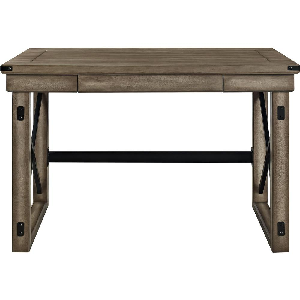 Ameriwood Home Forest Grove Rustic Gray Computer Desk with