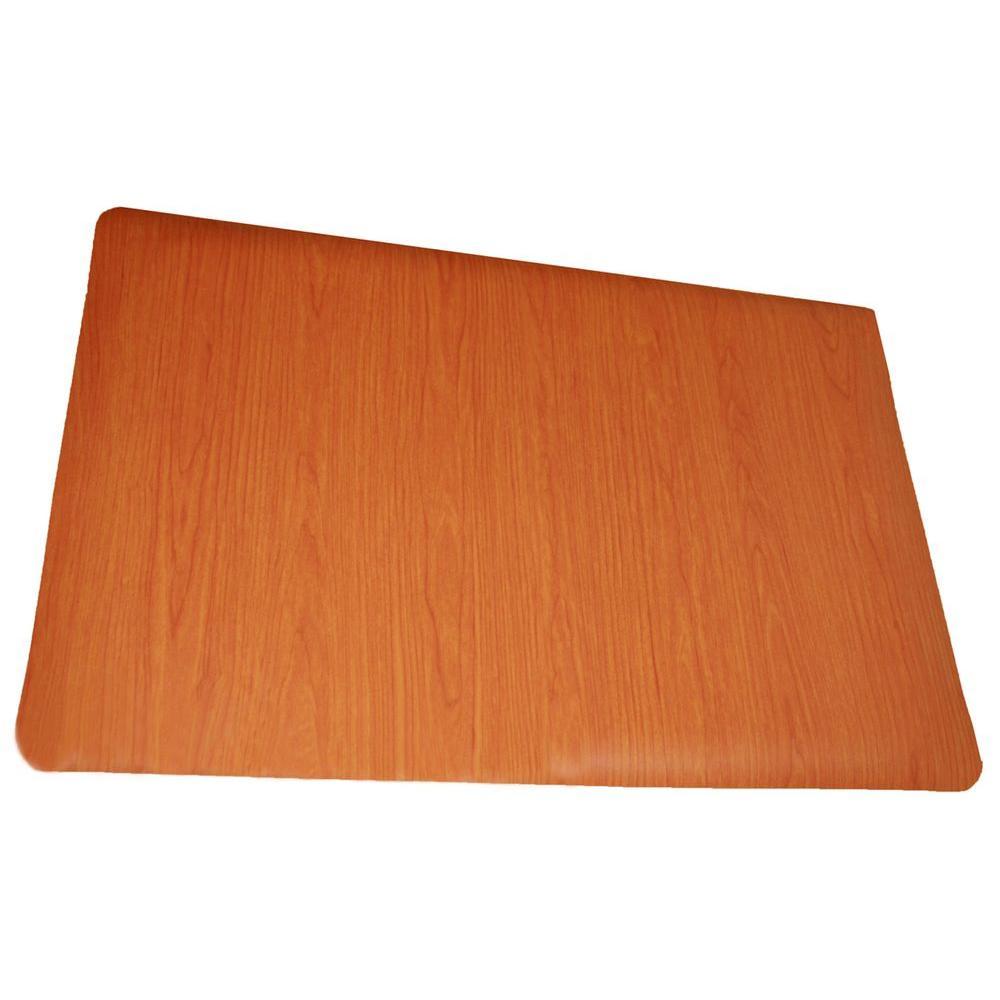 Rhino AntiFatigue Mats Soft Woods Cherry 36 in x 60 in Double Sponge Vinyl Anti Fatigue Floor