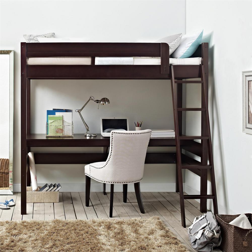 Dorel Living Georgetown Transitional Twin Loft Bed Frame