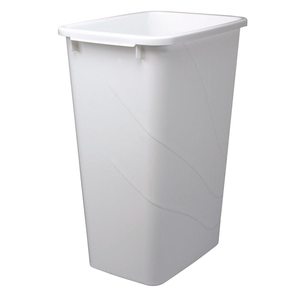 tall kitchen bin built in seating knape vogt 50 quart plastic pull out trash can container garbage details