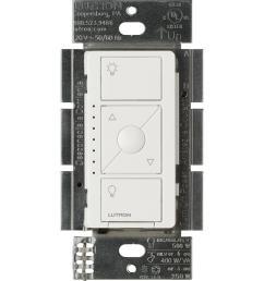 lutron caseta wireless smart lighting dimmer switch for elv bulbs white [ 1000 x 1000 Pixel ]