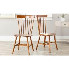 Light Wood Dining Chairs Recliner Chair Cushions Outdoor Safavieh Riley Brown Set Of 2 Amh8500c Set2 The Home Depot