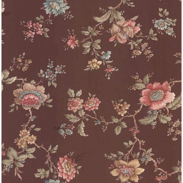Brewster Floral Wallpaper Home Depot