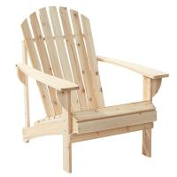 Hampton Bay Unfinished Stationary Wood Outdoor Adirondack ...