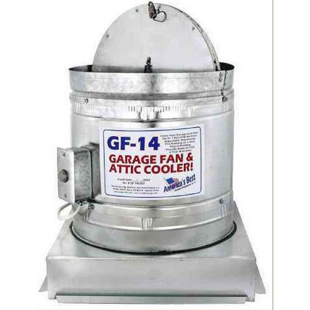 1150 Cfm Galvanized Steel Electric Powered Attic Fan With Adjustable Thermostat Gf 14 The Home Depot