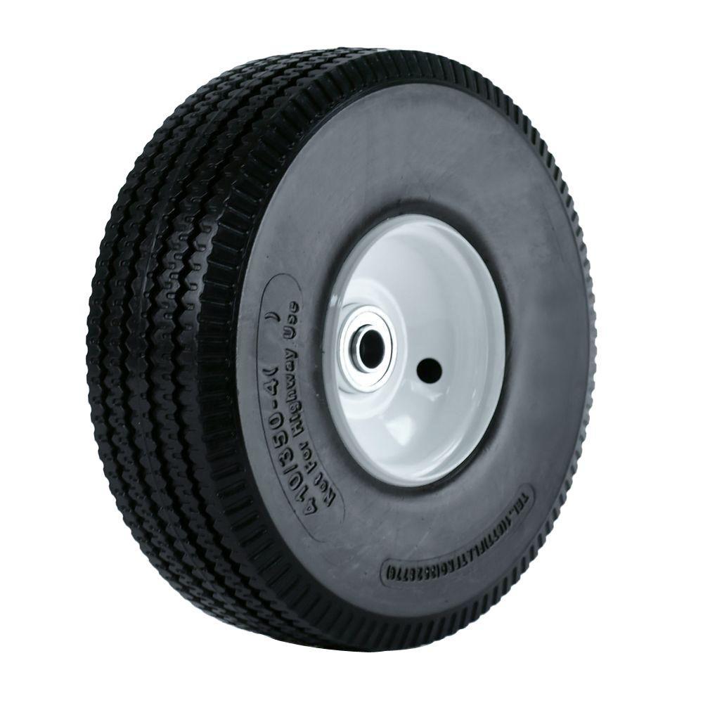 medium resolution of martin wheel 10 in flat free hand truck wheel 2 1 4 in