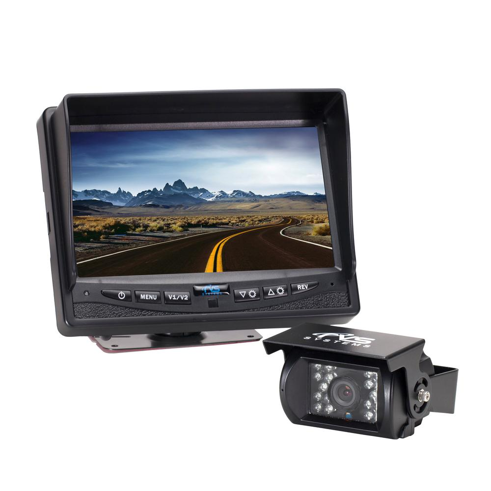 hight resolution of 540tvl back up camera system with 7 in flush mount monitor