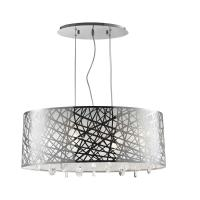 Oval Crystal Chandelier With Drum Shade - Chandelier Ideas