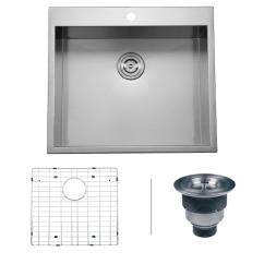 Square Kitchen Sink Counter Lighting Ruvati Drop In Stainless Steel 25 16 Gauge Top Mount Single Bowl