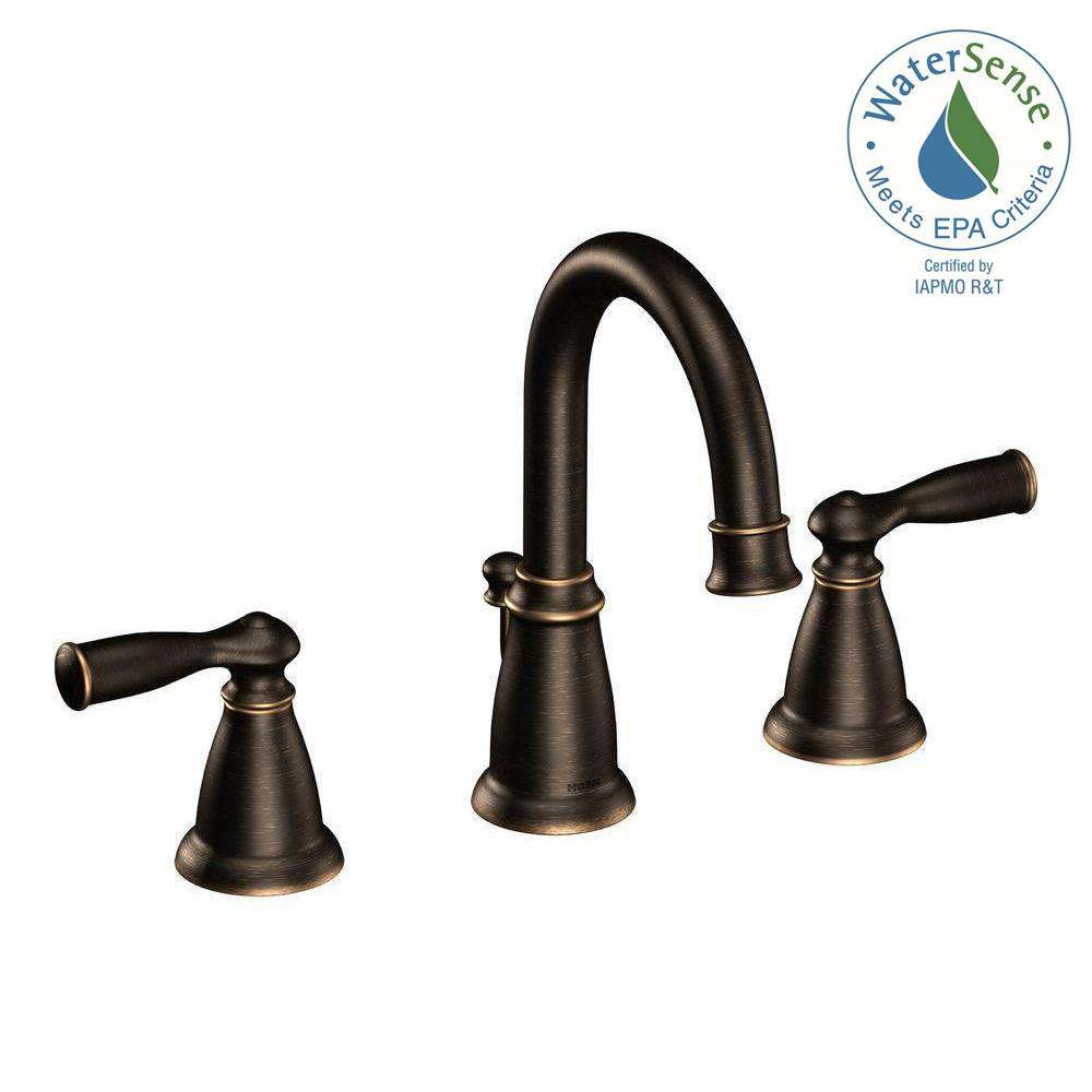 MOEN Banbury 8 in Widespread 2Handle Bathroom Faucet in