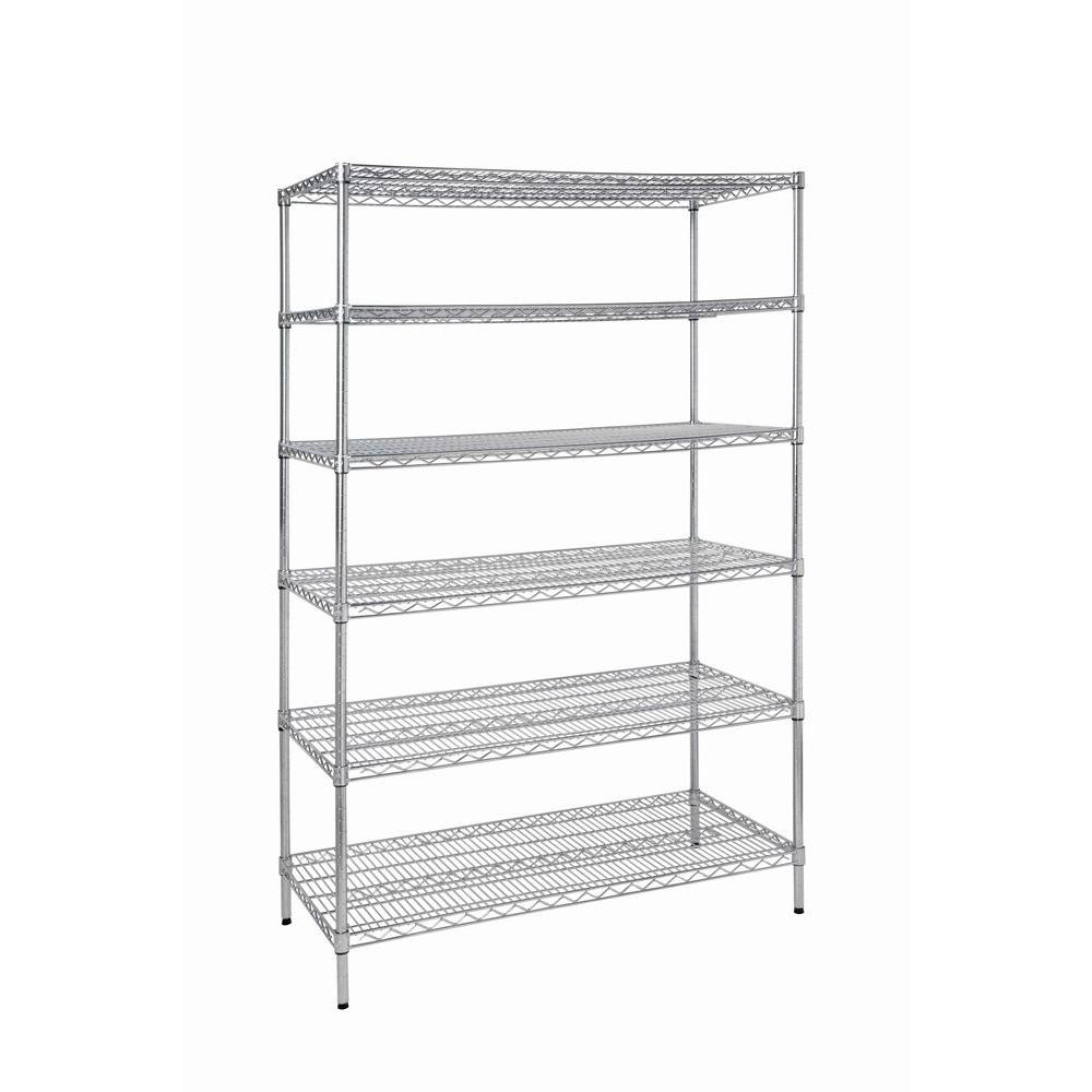 Hdx  Shelves Steel Commercial Shelving Unit