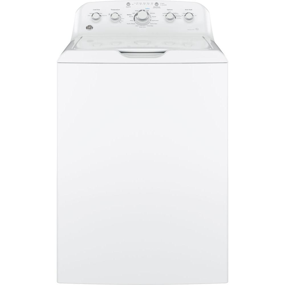 hight resolution of ge 4 2 cu ft high efficiency white top load washing machine with stainless