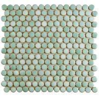Merola Tile Hudson Penny Round Mint Green 12 in. x 12-5/8 ...