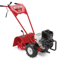 troy bilt pony 16 in 250 cc ohv b s engine rear tine forward rotating gas tiller with one hand operation [ 1000 x 1000 Pixel ]