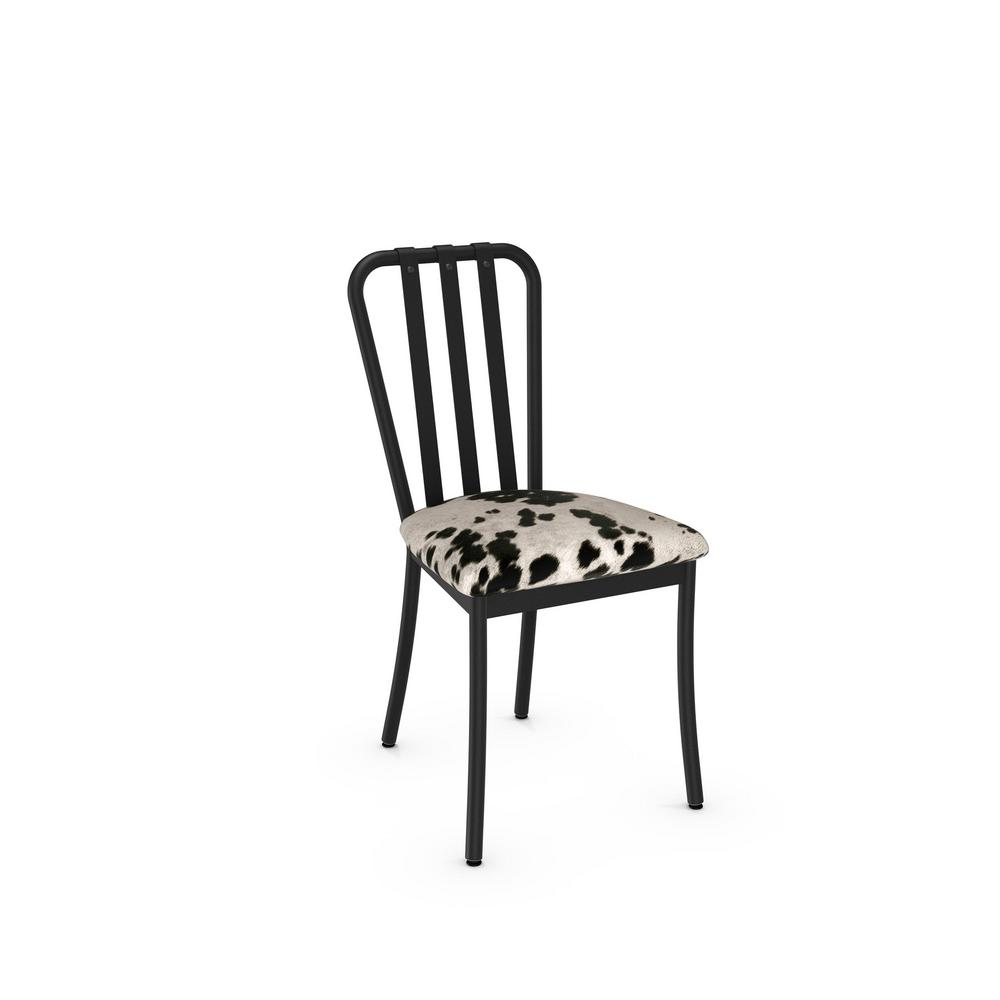 black and white cowhide chair retro dining table chairs gumtree club metal set of 2 31667 25gn the home depot