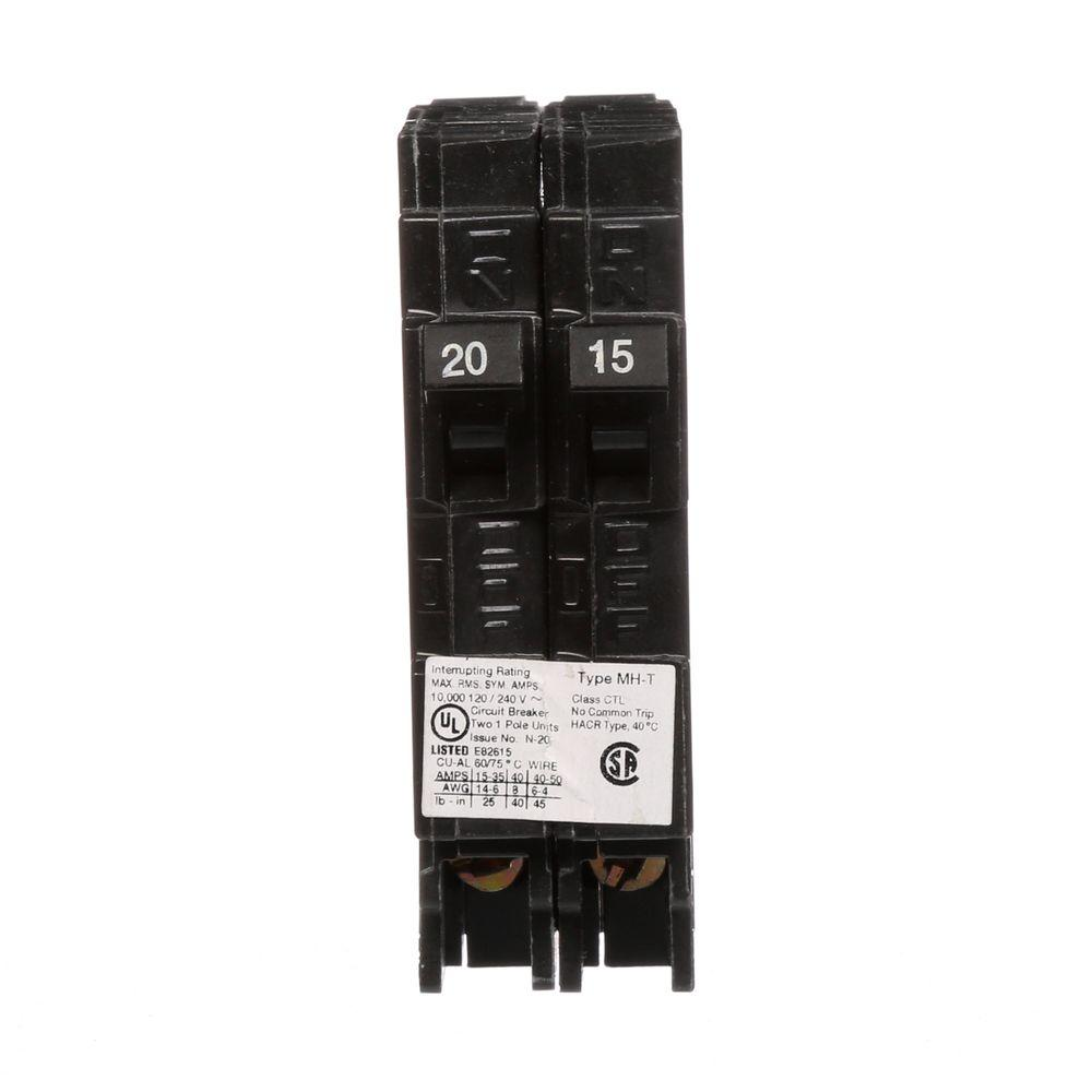 hight resolution of murray 15 20 amp single pole tandem type mh t plug in circuit
