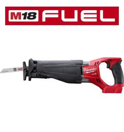 milwaukee m18 fuel 18 volt lithium ion brushless cordless sawzall reciprocating saw tool [ 1000 x 1000 Pixel ]