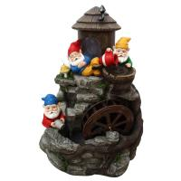 Alpine Three Gnomes Water Wheel Fountain-USA1370S - The ...