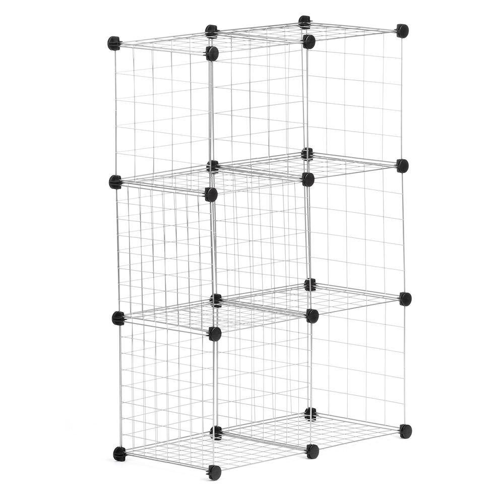Honey-Can-Do 30.375 in. x 44.625 in. Silver Stackable 6