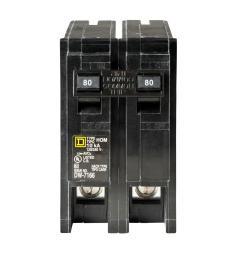 homeline 80 amp 2 pole circuit breaker [ 1000 x 1000 Pixel ]