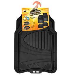 black heavy duty rubber 19 in x 29 in car mat 4 piece  [ 1000 x 1000 Pixel ]