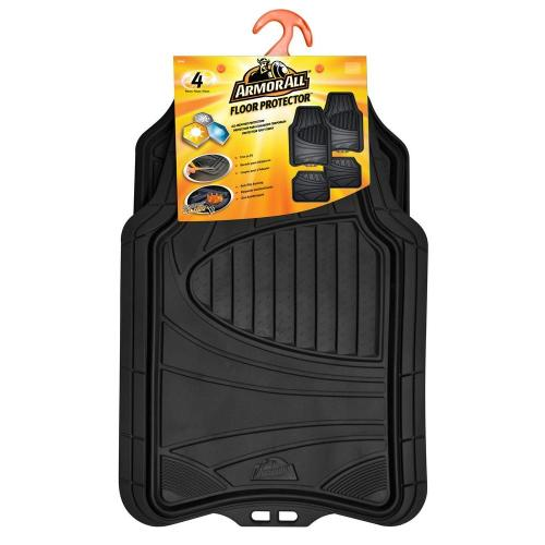 small resolution of black heavy duty rubber 19 in x 29 in car mat 4 piece