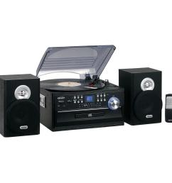 jensen 3 speed stereo turntable music system with cd cassette and am fm [ 1000 x 1000 Pixel ]