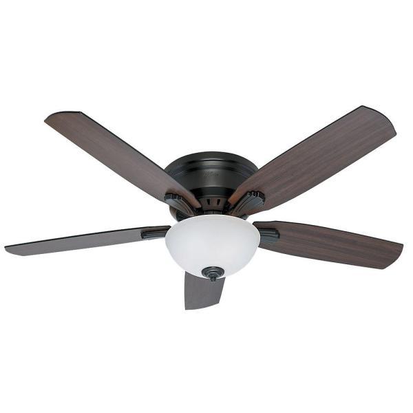 Hunter Princeton 52 In. Indoor Profile Noble Bronze Ceiling Fan-53270 - Home Depot