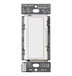 white lutron dimmers macl 153mr wh 64 1000 lutron maestro 150 watt single pole 3 way multi [ 1000 x 1000 Pixel ]