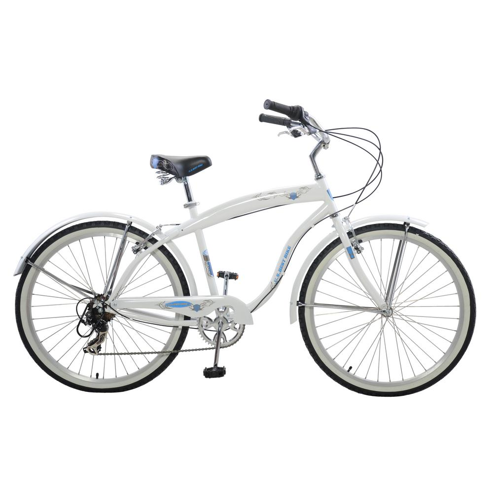 Cycle Force 26 in. Men's Stylish Cruiser in White-BKM