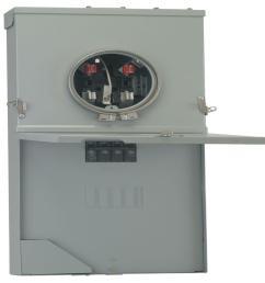 ge powermark gold 200 amp 4 space 8 circuit meter socket load center ge meter and panel wiring diagram [ 1000 x 1000 Pixel ]