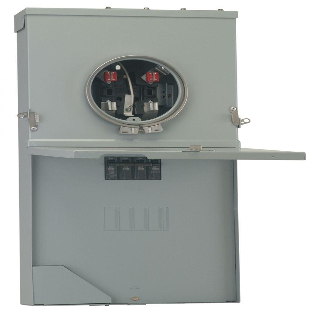 medium resolution of ge powermark gold 200 amp 4 space 8 circuit meter socket load center ge meter and panel wiring diagram