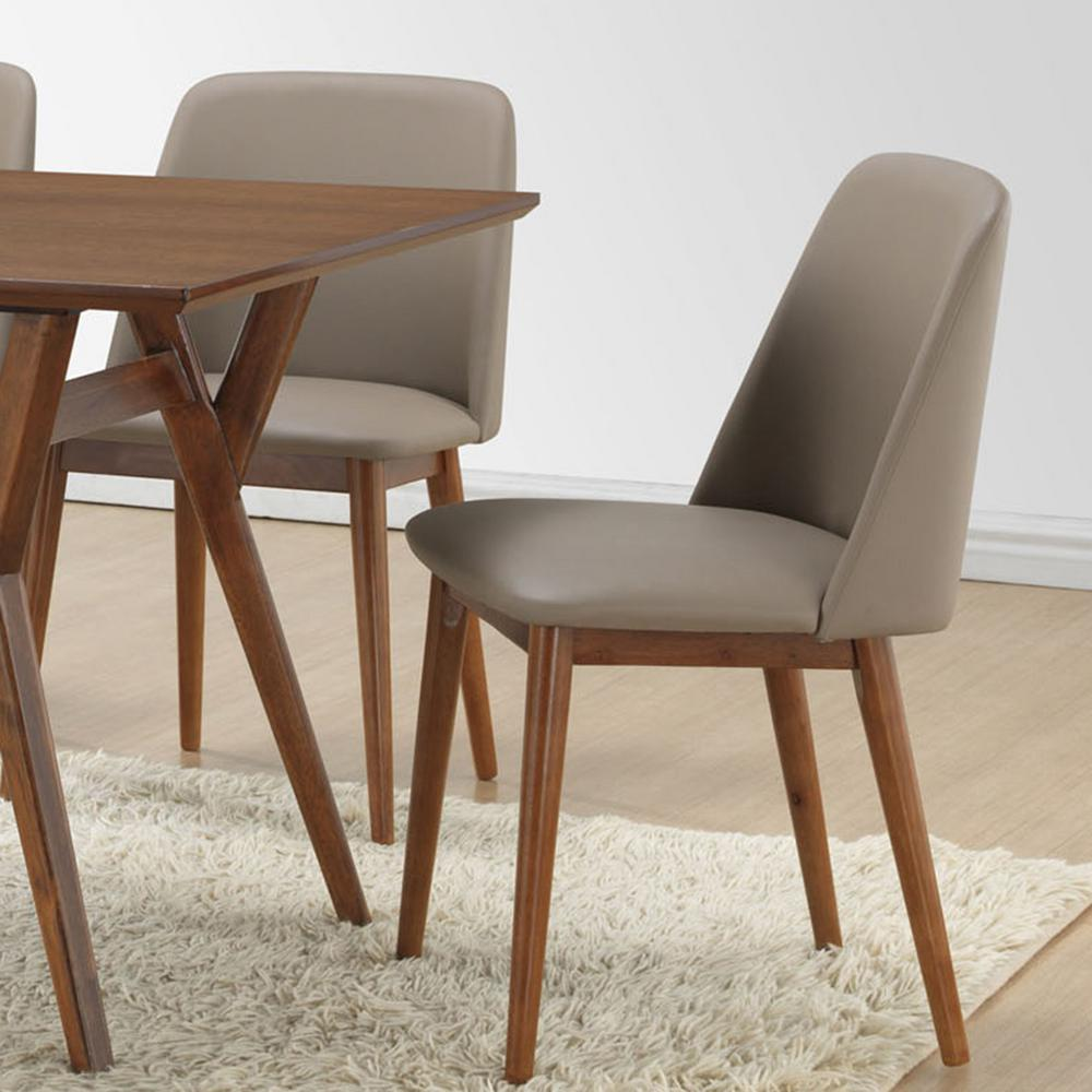Beige Leather Dining Chairs Baxton Studio Lavin Beige Faux Leather Upholstered Dining Chairs