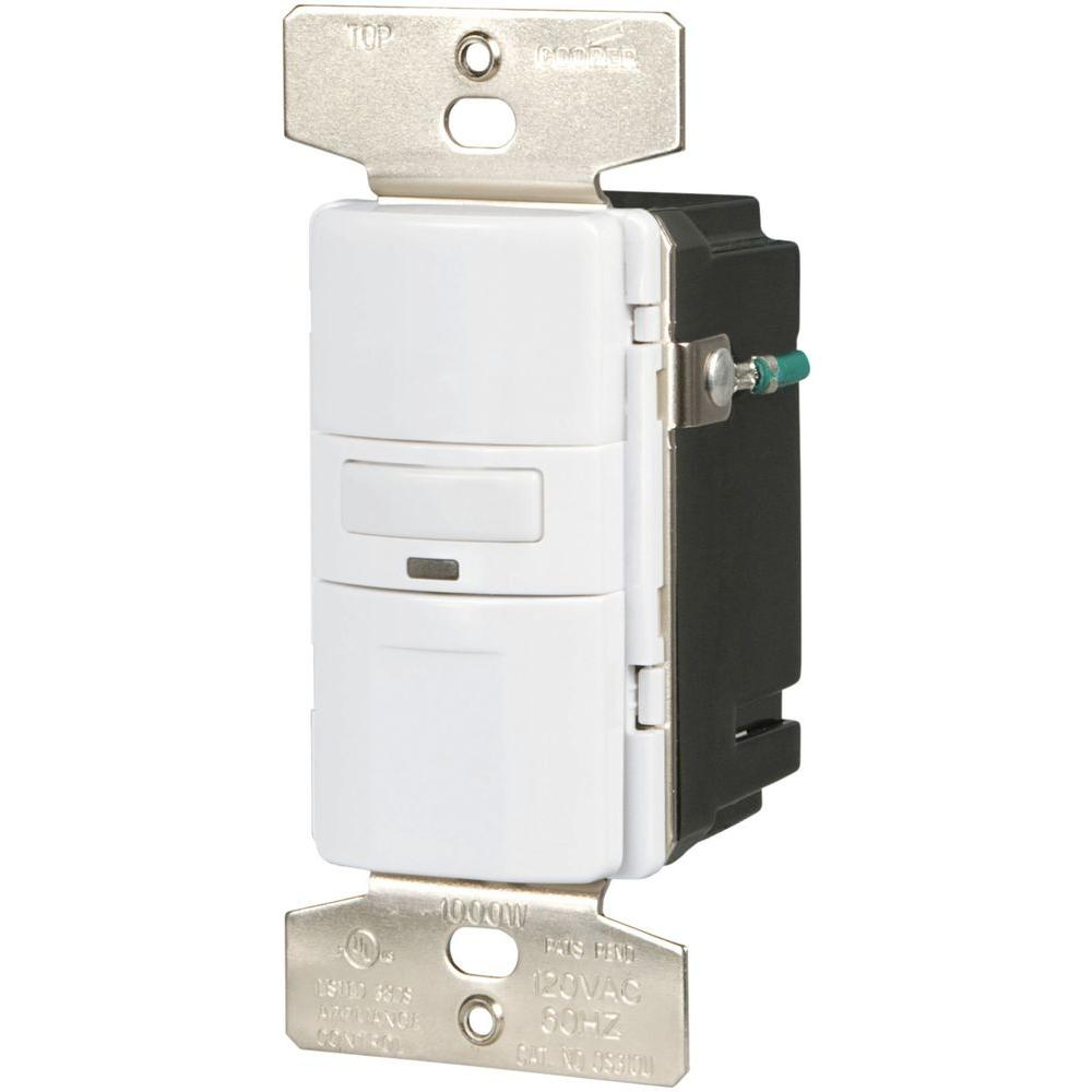 medium resolution of eaton motion activated vacancy sensor wall switch white vs310u w k turn offfind cooper wiring devices amp almond motion motion