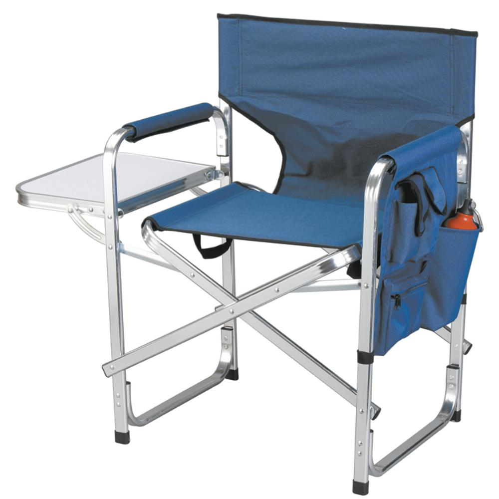 camping chair accessories best desk for lower back pain ming s mark stylish blue full folding director