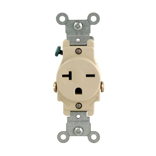 small resolution of leviton 20 amp commercial grade double pole single outlet ivory