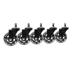 Office Chair Rollerblade Wheels Camping Tent Slipstick 3 In Black Caster 5 Pack