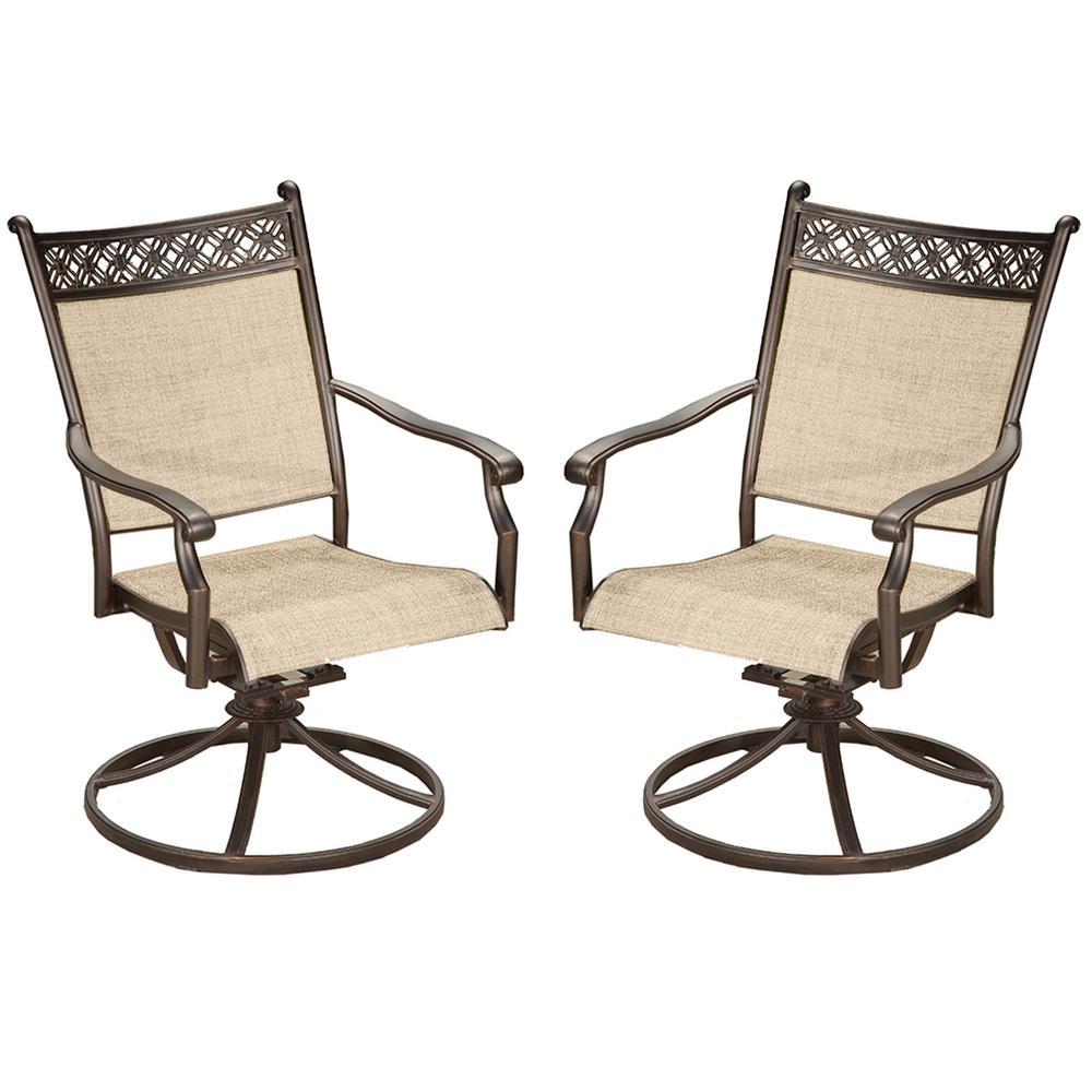 ab swivel chair hardwood floor leg protectors bali sling aluminum metal outdoor indoor pair of bronze black rockers for dining balcony