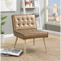 Tufted Accent Chairs Exercise Ball Office Chair Workout Ave Six Amity Sizzle Copper Fabric Amt51t S53 The Home Depot