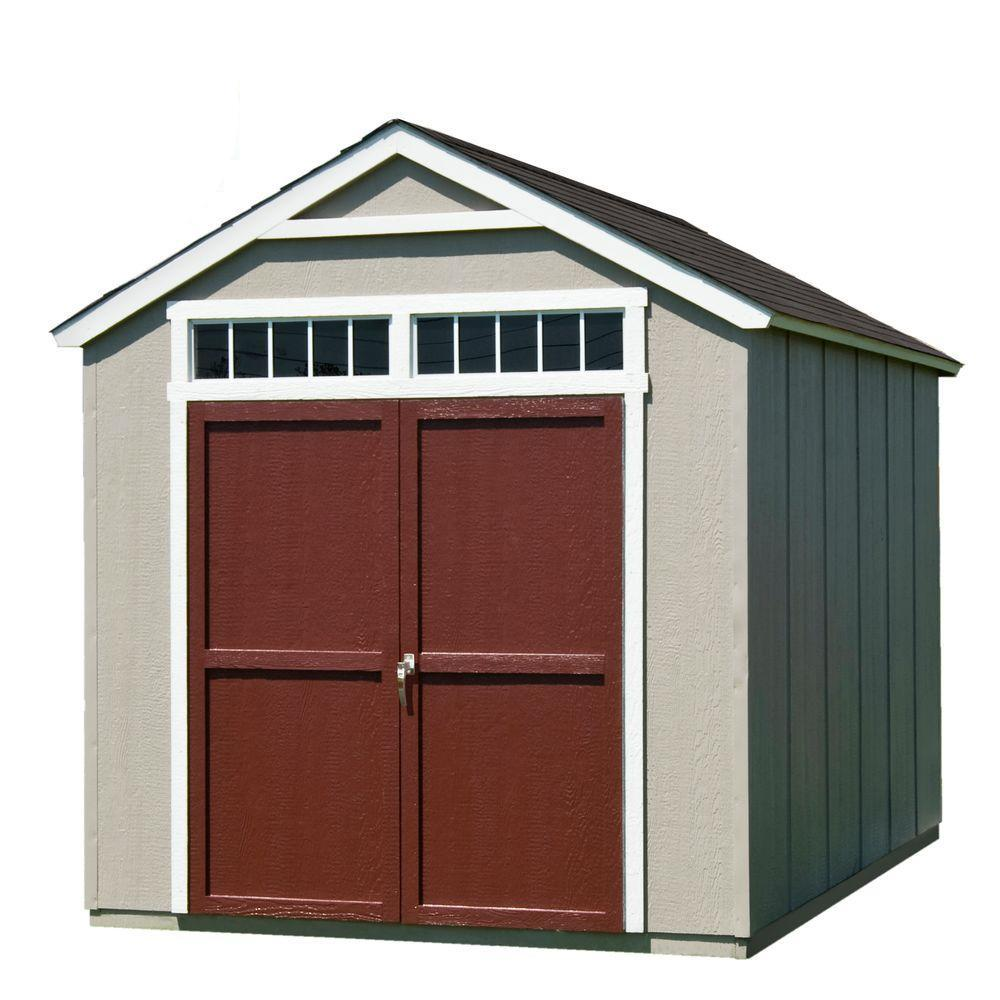 hight resolution of handy home products installed majestic 8 ft x 12 ft wood storage shed with