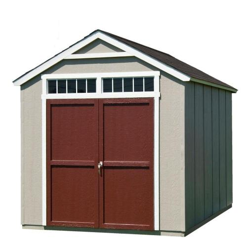 small resolution of handy home products installed majestic 8 ft x 12 ft wood storage shed with
