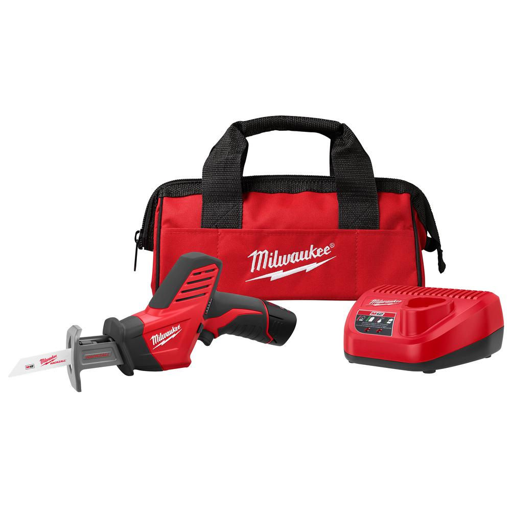 hight resolution of milwaukee m12 12 volt lithium ion hackzall cordless reciprocating saw w 1