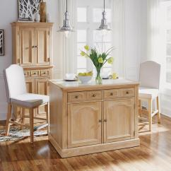 Kitchen Island Set Table With Bench Other Wood Cabinet Carts Islands Utility Tables Cambridge White Wash Natural Quartz Top