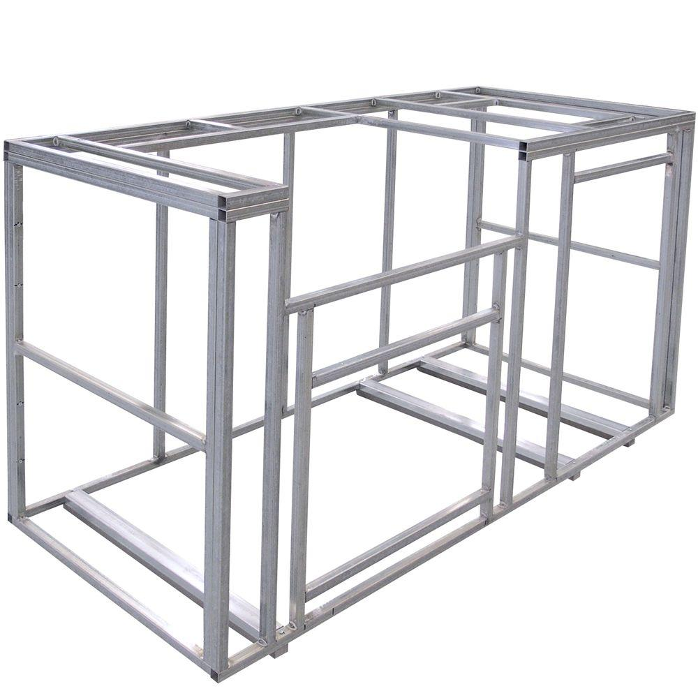Cal Flame 6 ft. Outdoor Kitchen Island Frame Kit-KD-F6002
