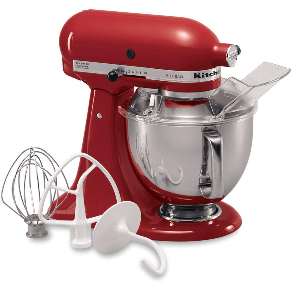 kitchen aid products cream colored appliances kitchenaid artisan 5 qt empire red stand mixer ksm150pser the