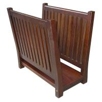 Home Decorators Collection 15 in. Mahogany Magazine Rack ...