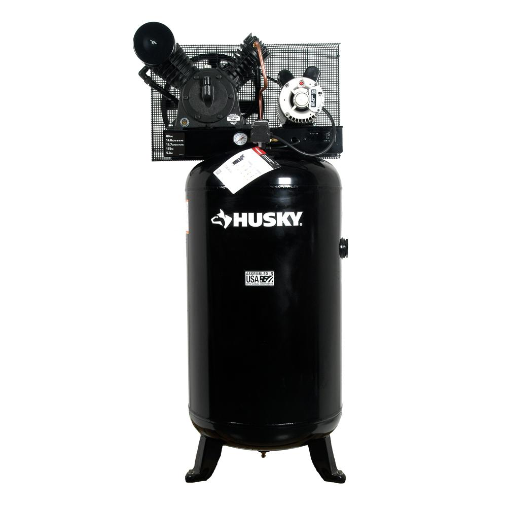 medium resolution of husky 80 gal 5 hp 2 stage air compressor hs5181 the home depot5 hp 2 stage